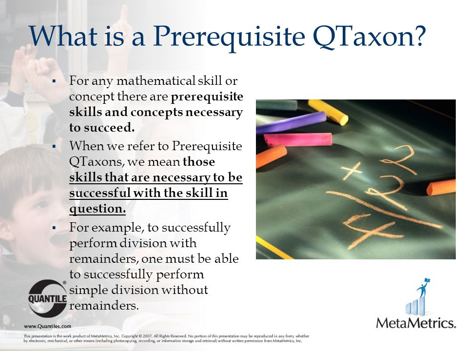 What is a Prerequisite QTaxon