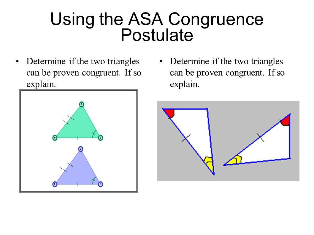 Using the ASA Congruence Postulate
