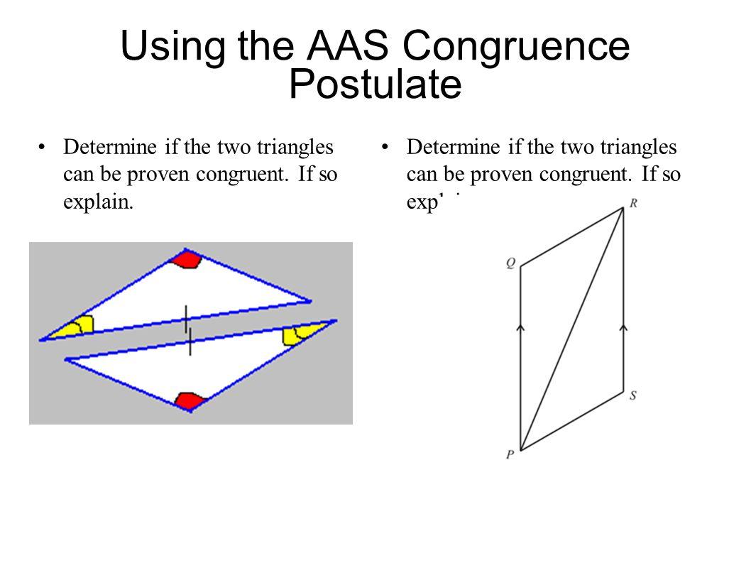Using the AAS Congruence Postulate