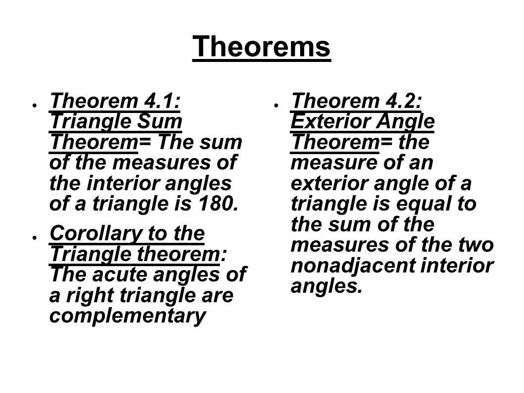 Chapter 4a congruent triangles by nate hungate gary - Sum of the exterior angles of a triangle ...
