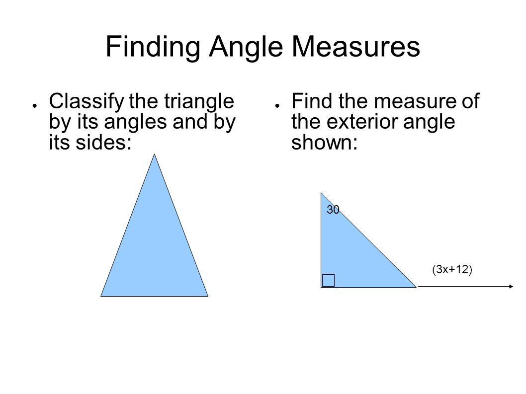 Finding Angle Measures