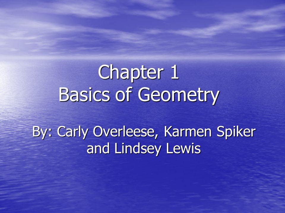 Chapter 1 Basics of Geometry