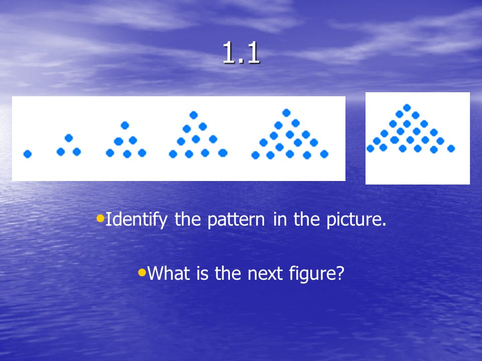 Identify the pattern in the picture. What is the next figure