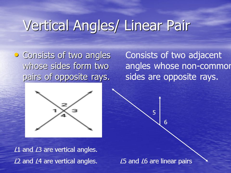 Vertical Angles/ Linear Pair