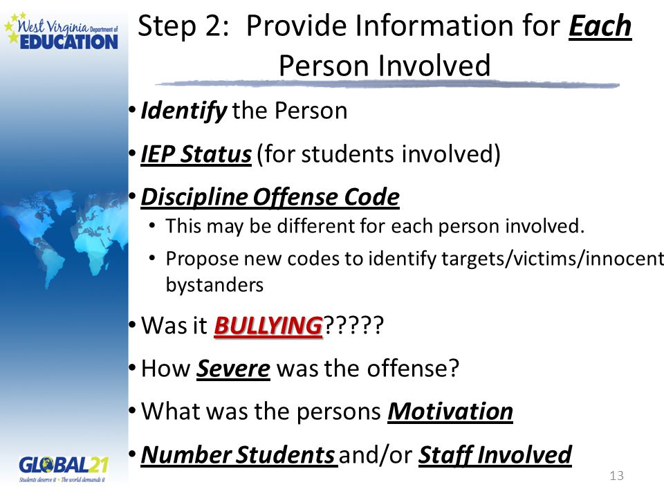 Step 2: Provide Information for Each Person Involved