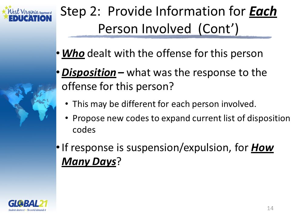 Step 2: Provide Information for Each Person Involved (Cont')