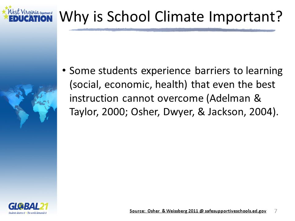 Why is School Climate Important