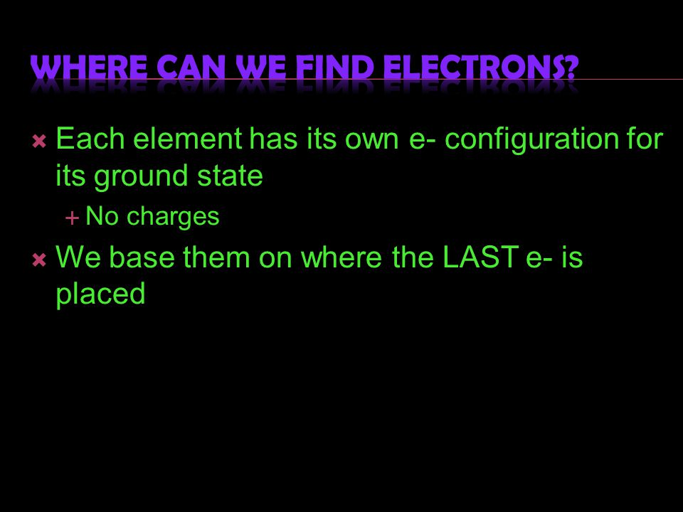 Where can we find electrons