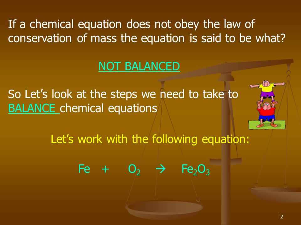 If a chemical equation does not obey the law of