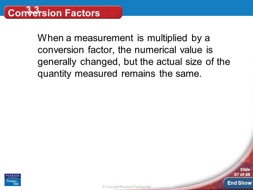 3.3 Conversion Factors.