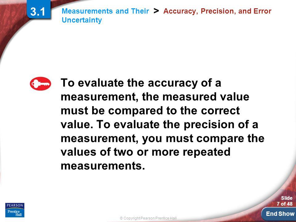 Accuracy, Precision, and Error