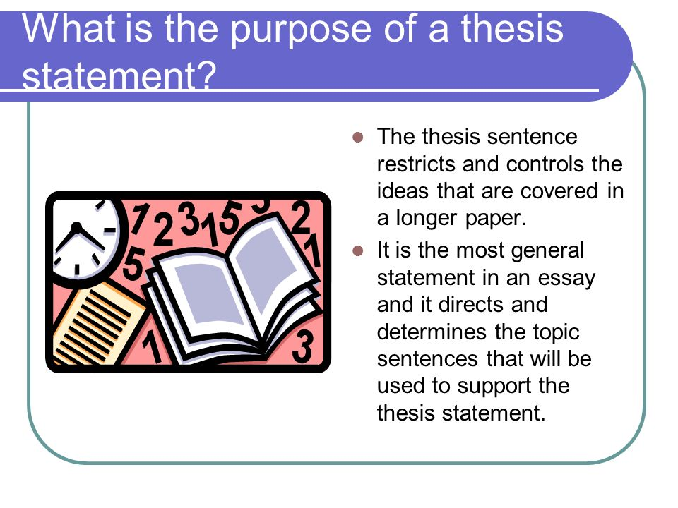 Thesis/Purpose Statement