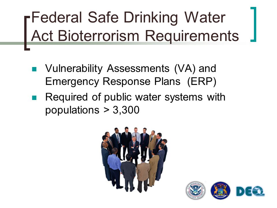 Federal Safe Drinking Water Act Bioterrorism Requirements