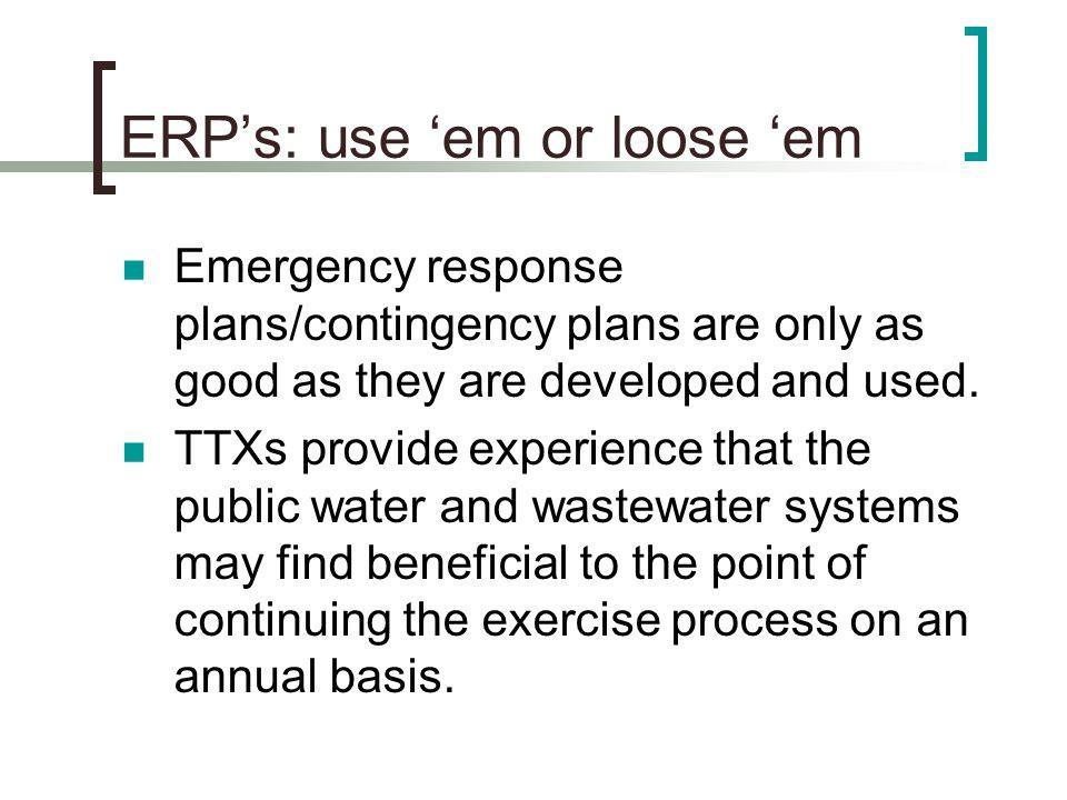 ERP's: use 'em or loose 'em