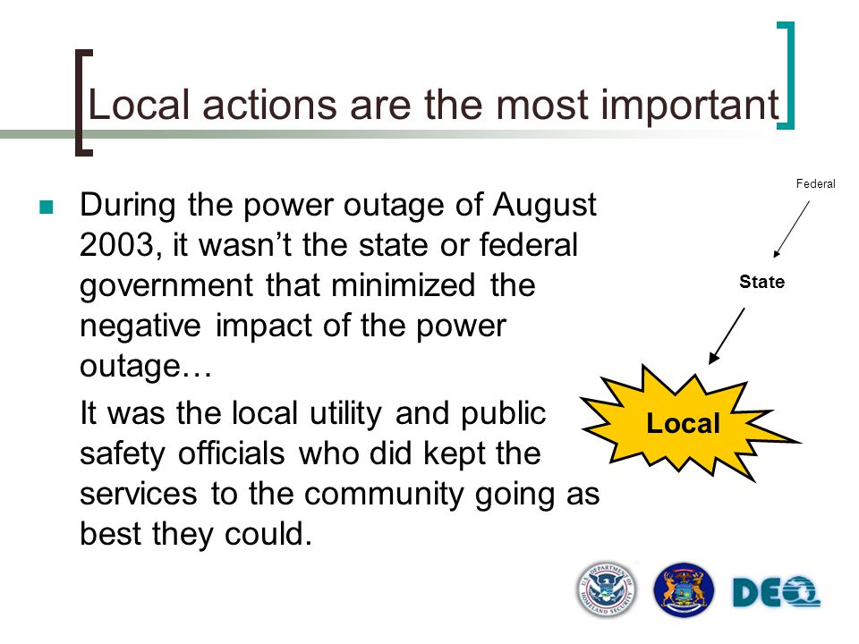 Local actions are the most important