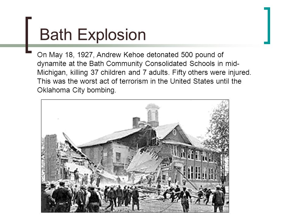Bath Explosion