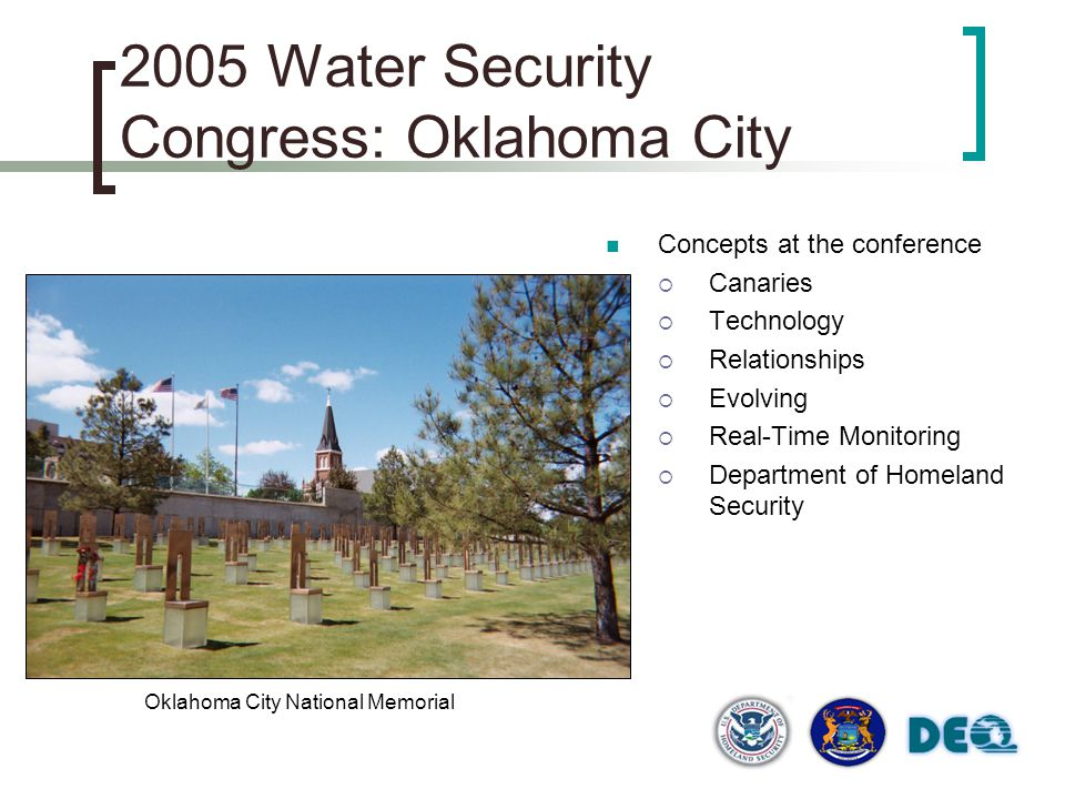 2005 Water Security Congress: Oklahoma City