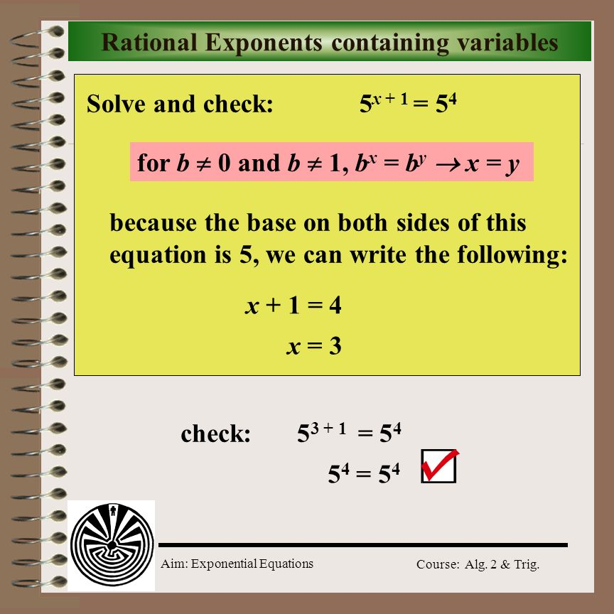 Rational Exponents containing variables