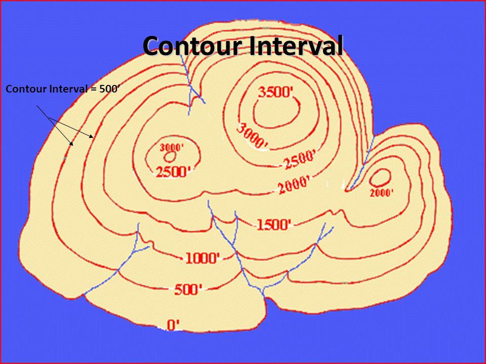 Contour Interval Contour Interval = 500'