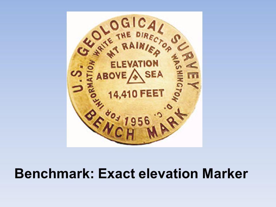 Benchmark: Exact elevation Marker