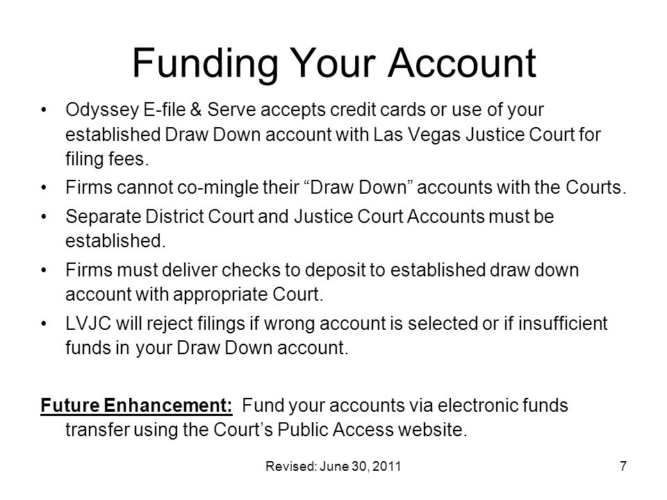 Funding Your Account