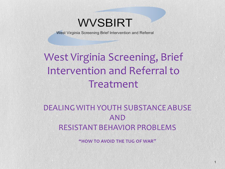 West Virginia Screening, Brief Intervention and Referral to Treatment