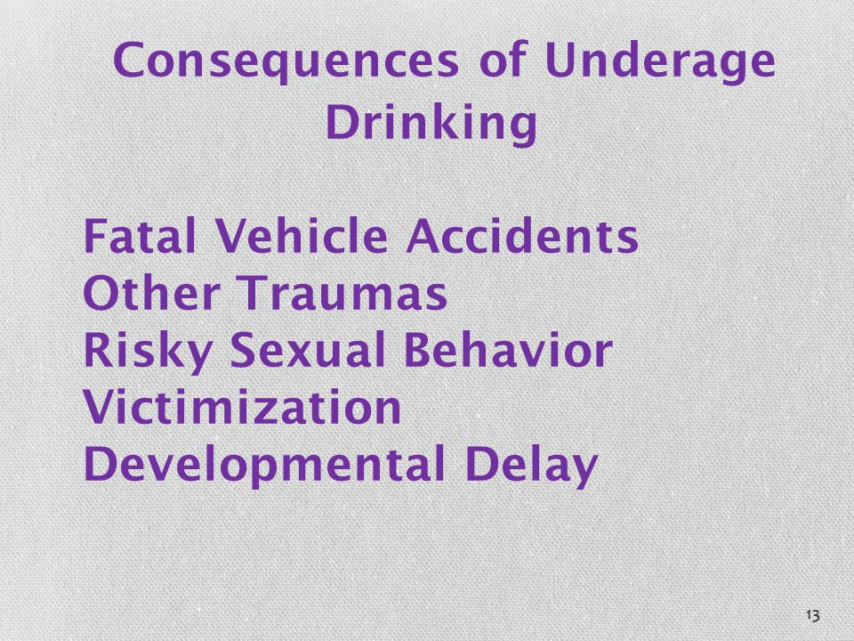 Consequences of Underage