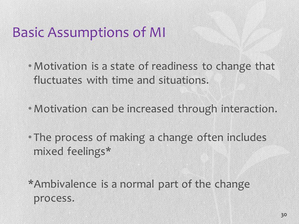 Basic Assumptions of MI