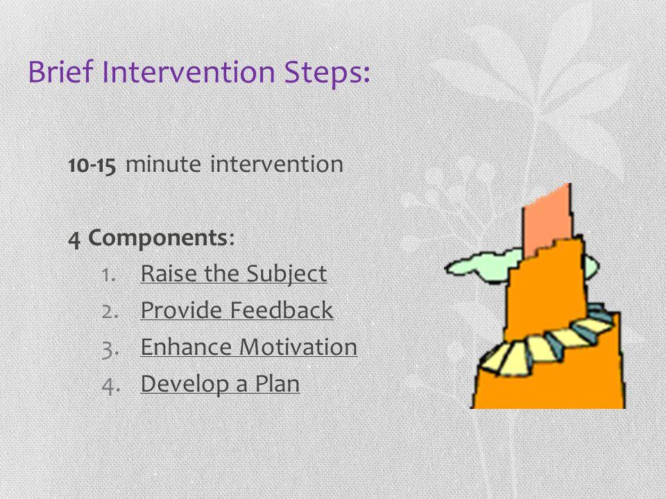 Brief Intervention Steps: