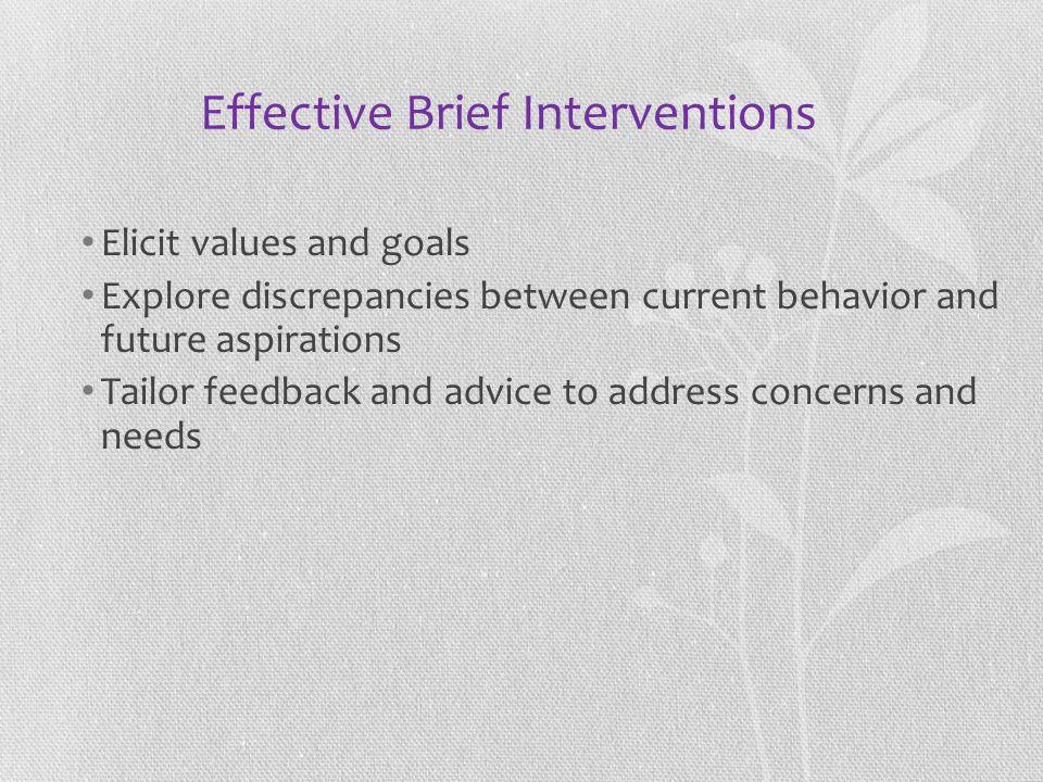 Effective Brief Interventions
