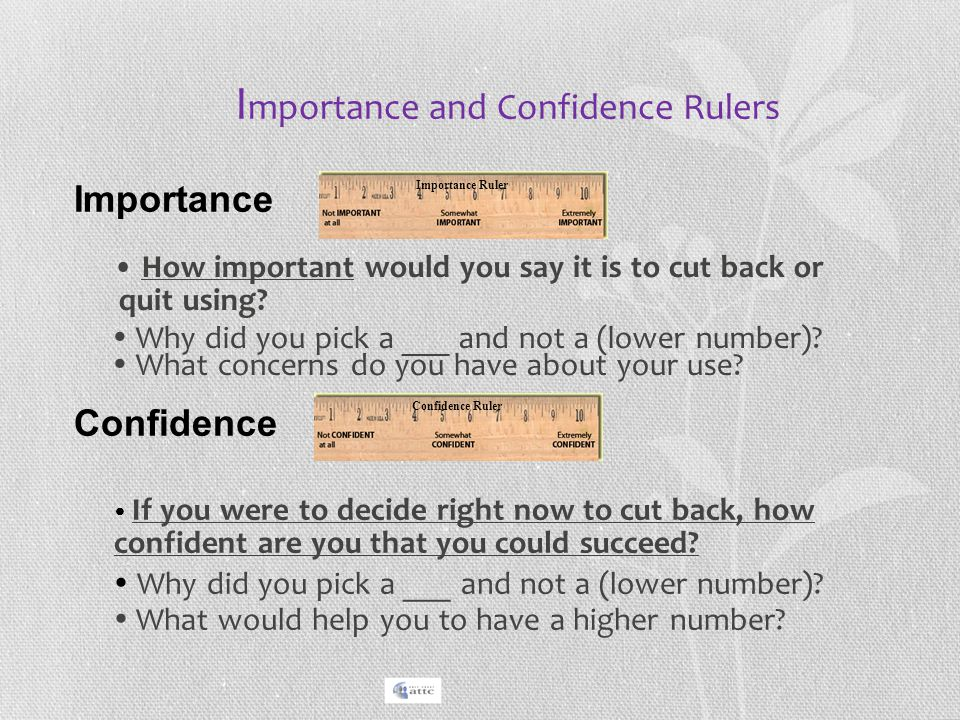 Importance and Confidence Rulers