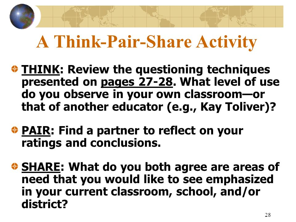 A Think-Pair-Share Activity