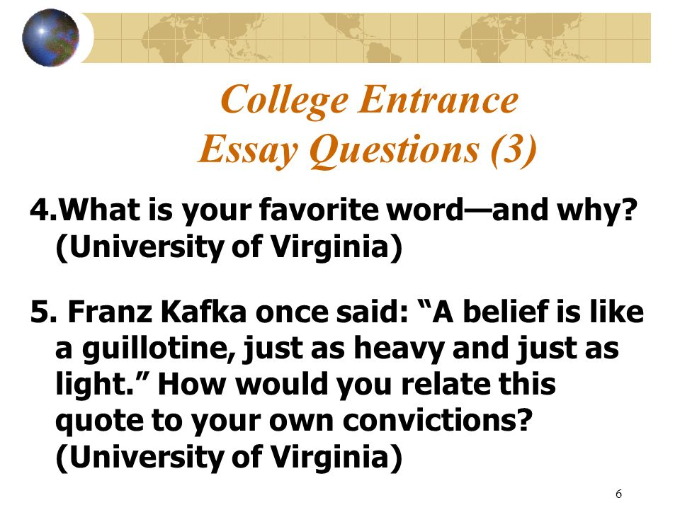 College essay advice uva