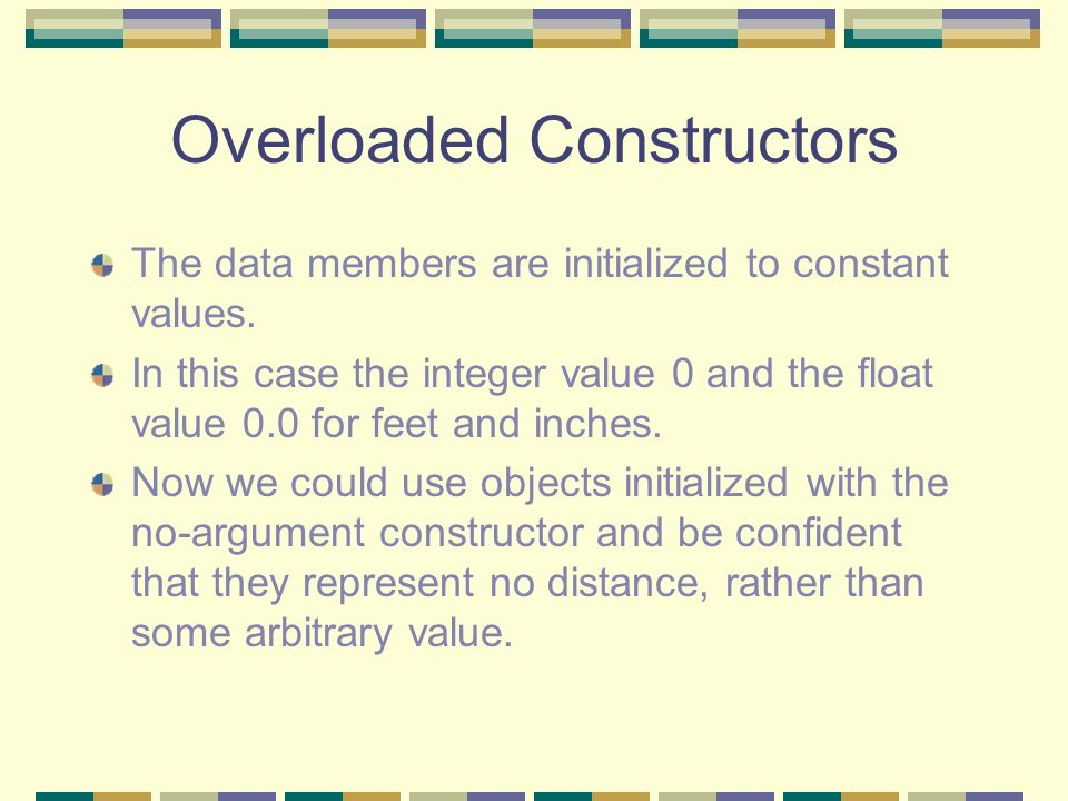 Overloaded Constructors