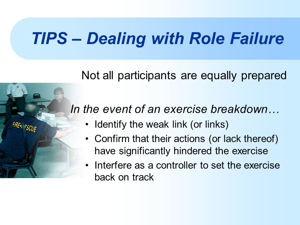TIPS – Dealing with Role Failure