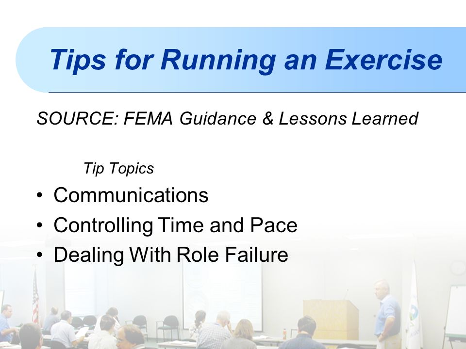 Tips for Running an Exercise