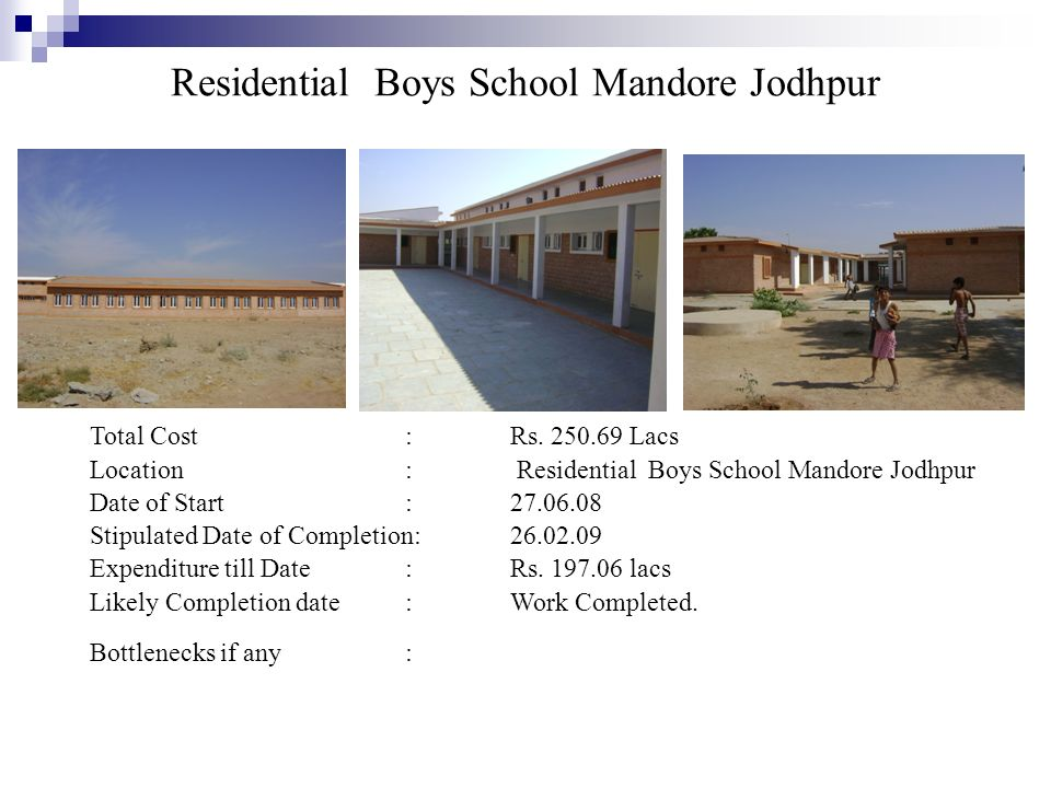Residential Boys School Mandore Jodhpur