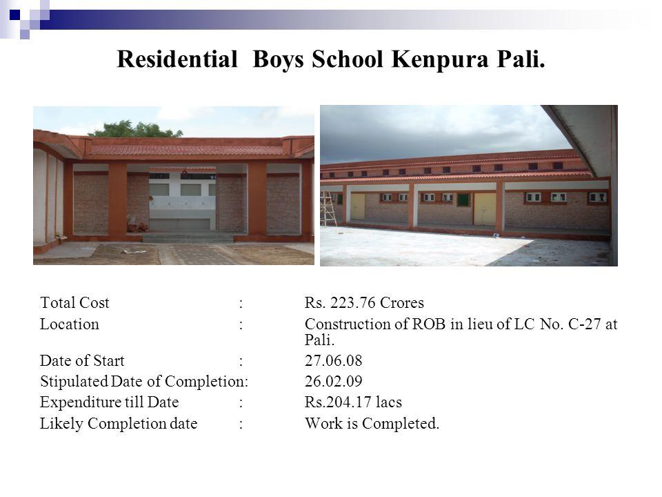 Residential Boys School Kenpura Pali.