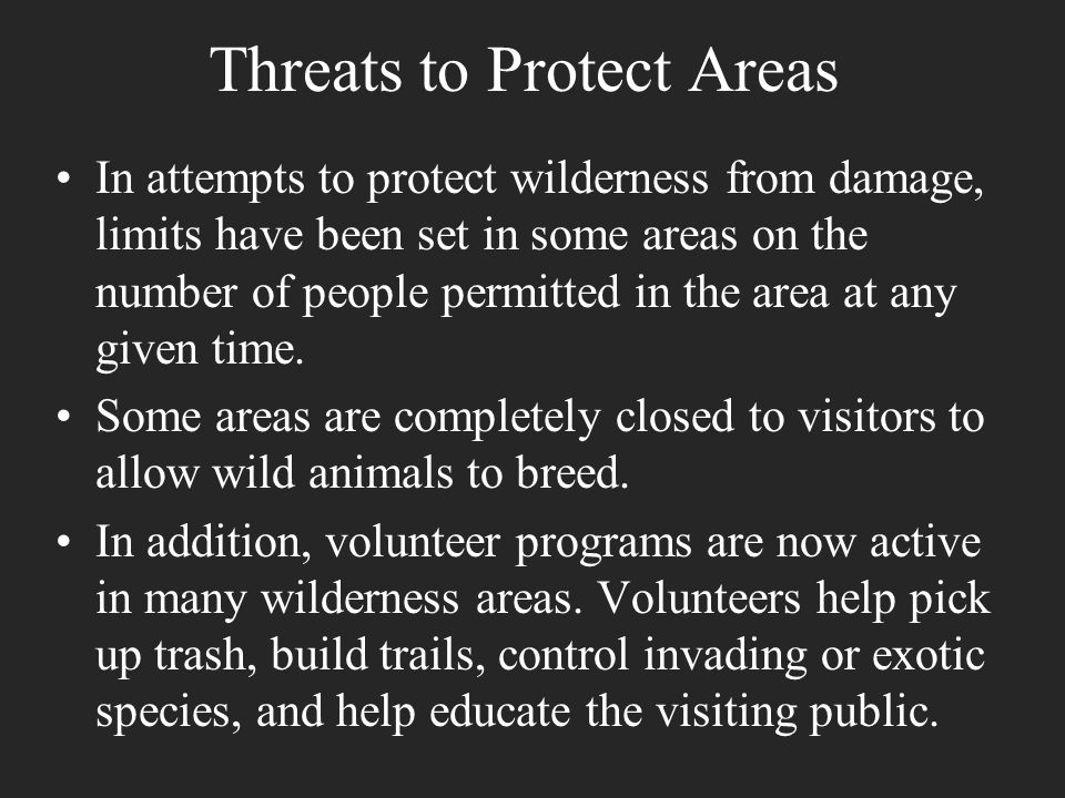 Threats to Protect Areas