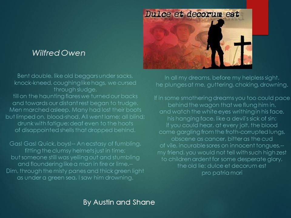 Wilfred Owen By Austin and Shane