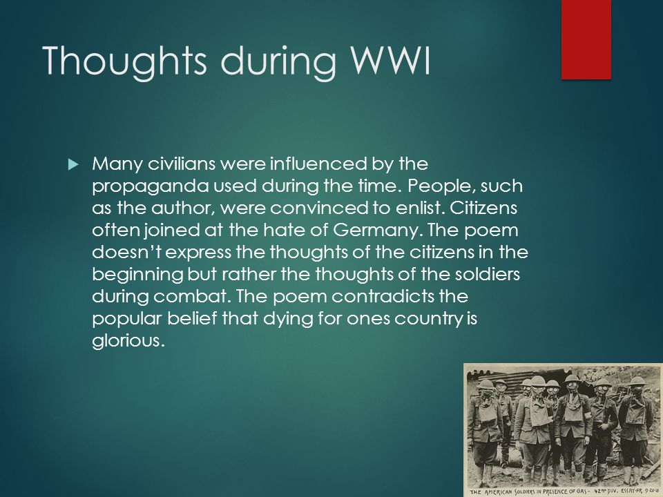 Thoughts during WWI