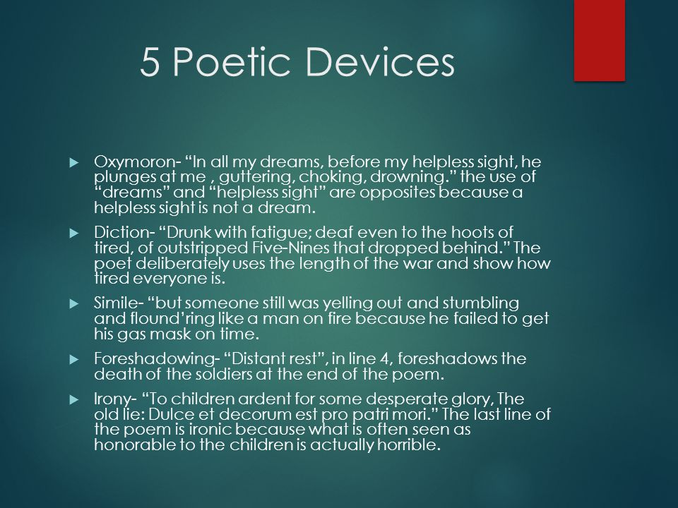 5 Poetic Devices
