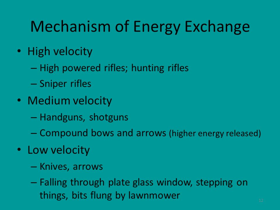 Mechanism of Energy Exchange