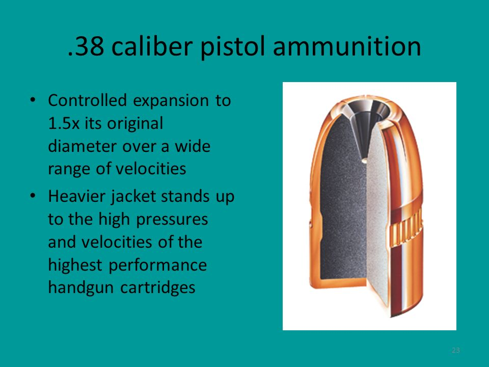 .38 caliber pistol ammunition