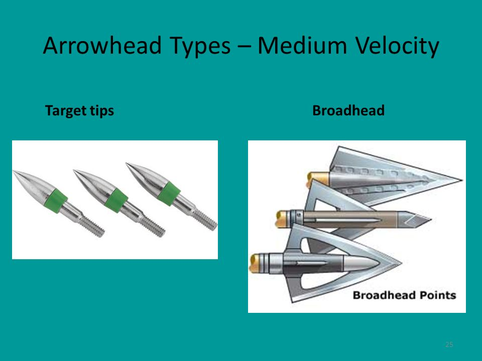 Arrowhead Types – Medium Velocity