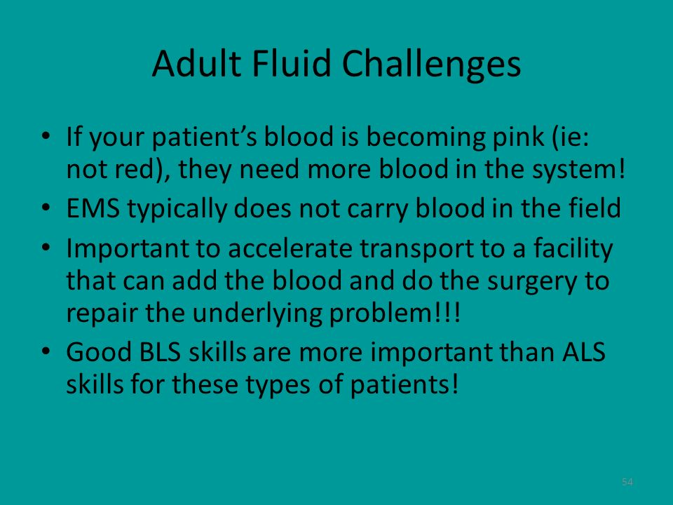 Adult Fluid Challenges