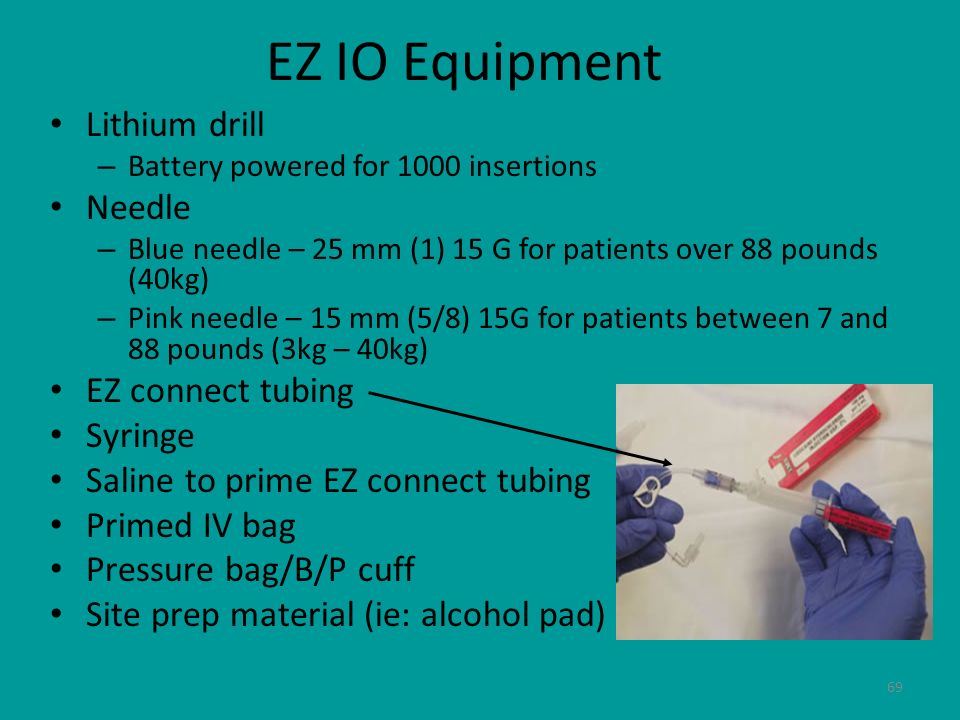 EZ IO Equipment Lithium drill Needle EZ connect tubing Syringe