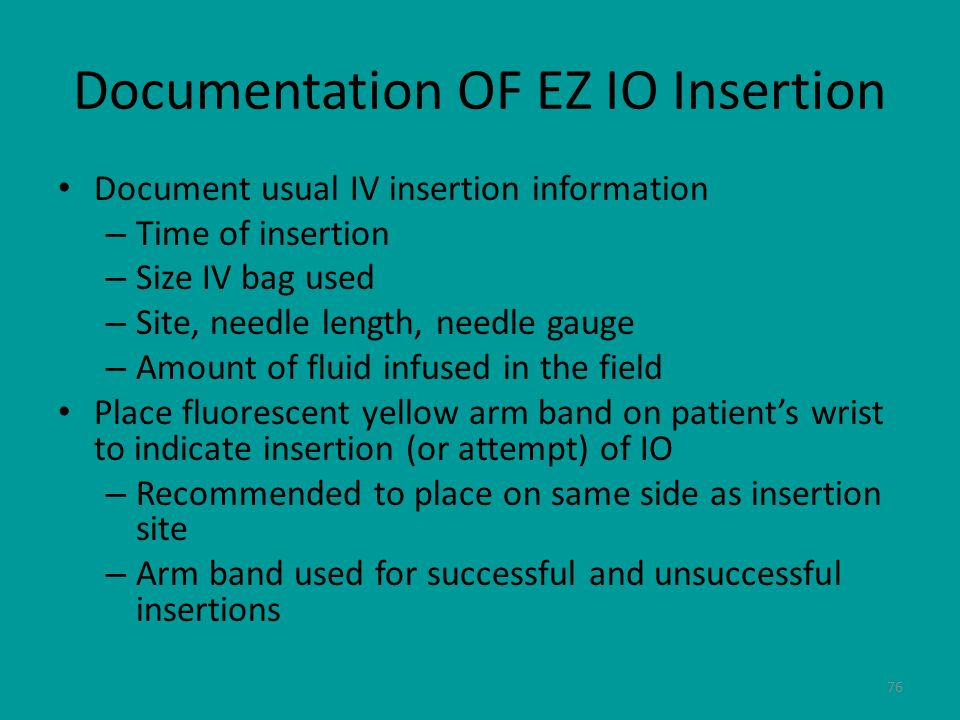 Documentation OF EZ IO Insertion