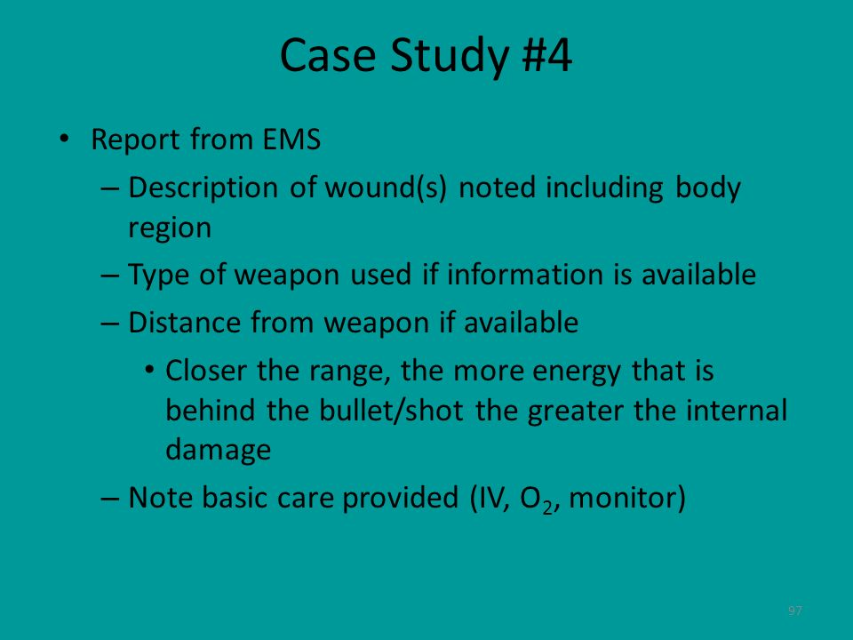 Case Study #4 Report from EMS