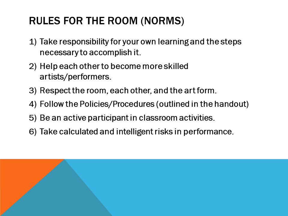Rules for the Room (Norms)